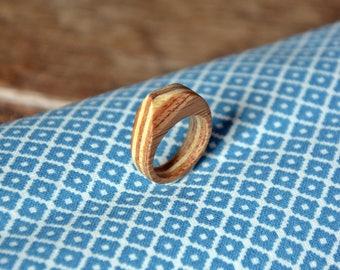 Asymmetrical bamboo ring