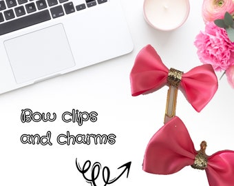 Hand made Bow Clips and Charms for any planners