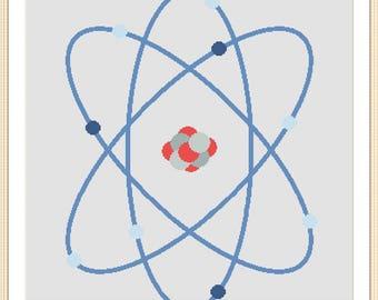 Atom cross stitch pattern pdf download