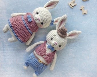 Amigurumi pattern Crochet Bunny pattern Crochet pattern amigurumi bunny crochet pattern Crochet rabbit pattern Amigurumi toy rabbit toy