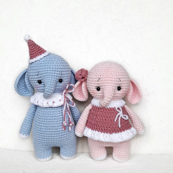 Amigurumi Crochet Elephant Pattern by Little Bear Crochets | 570x570