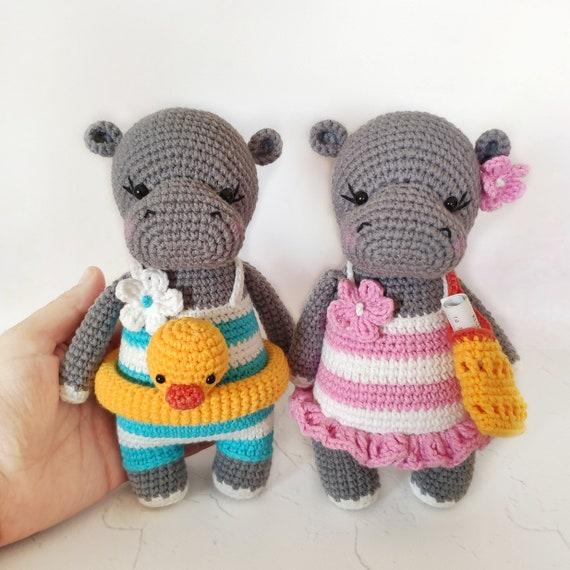 Amigurumi Pattern: Baby Kit - Hippo Melman - Tarturumies | 570x570