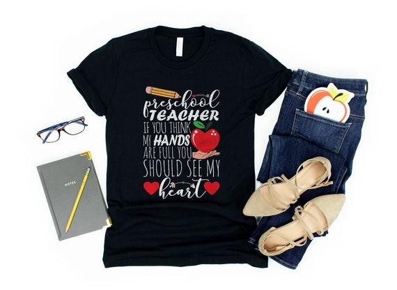 Being A Preschool Teacher Tee Shirt Short Sleeve Shirts