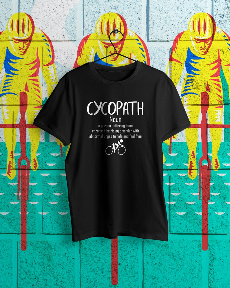 535f7c58d Cycopath Noun Funny Bike Cycling Definition Riders Indoor | Etsy