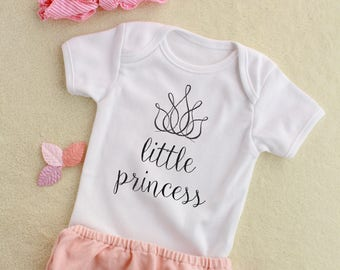 Little Princess Baby Bodysuit, Baby Princess Onesie, Baby Shower Gift, Newborn Baby Clothes, Funny Baby Bodysuit, New Baby Gift
