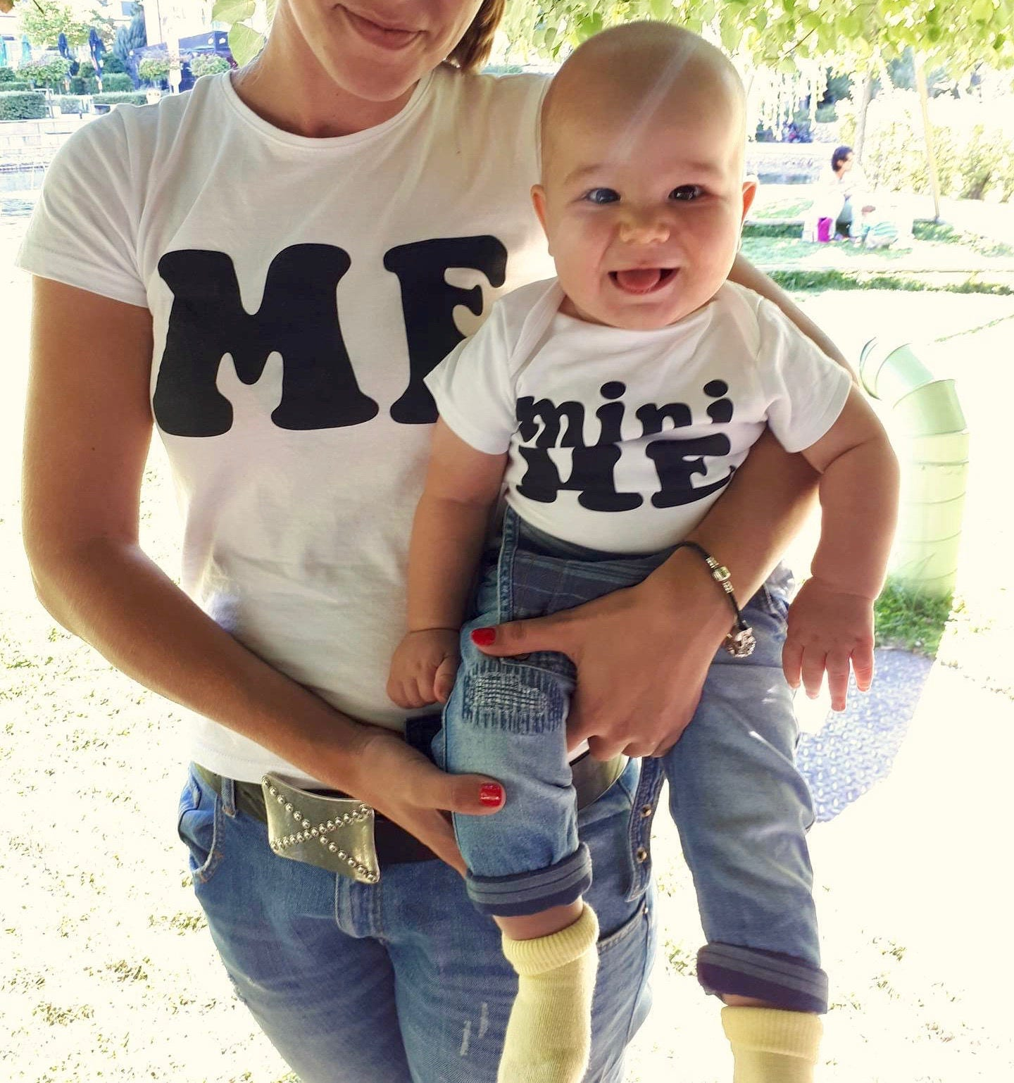Details about  /Mini Me Mom and Baby Matching Gift Shirts Infant Tee New Mom Gifts