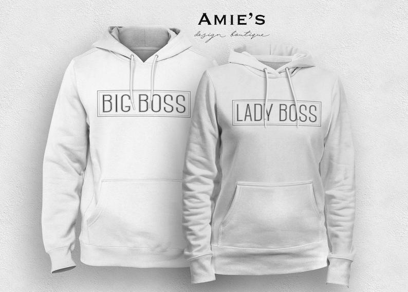 93a9b317cb1 Boss Lady Big Boss Hoodies Matching Couple Sweaters His