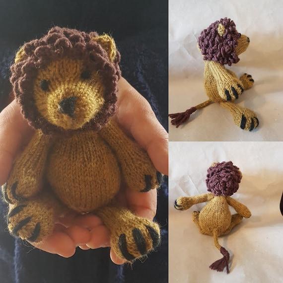 Leonard The Lion Knitting Pattern Only Etsy