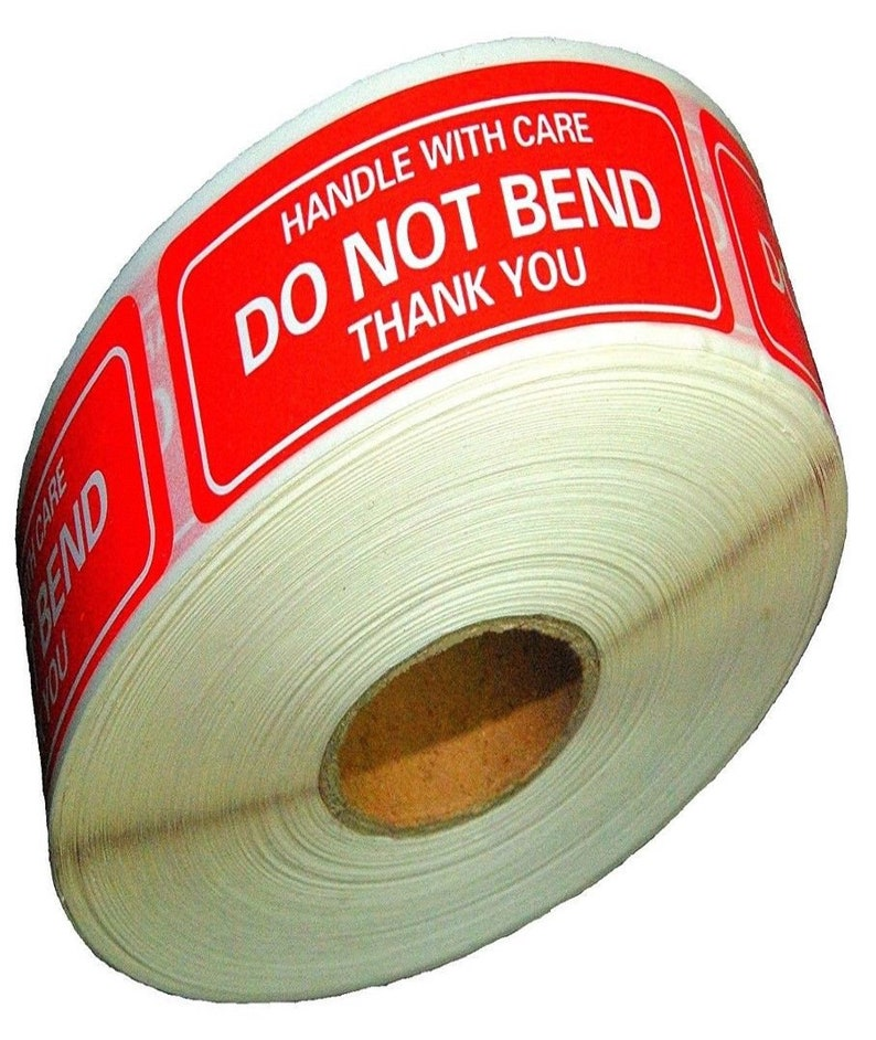 1 Roll 500 LabelsRoll 500 Labels Stickers 2 x 3 Handle with Care Do Not Bend Thank You Shipping Labels Stickers
