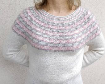 Damen Pullover Pullover Raglan ärmel Strickwaren Häkeln Oben Etsy