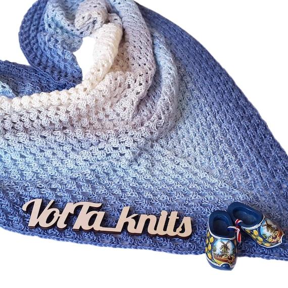Baumwolle stricken Schal stricken Schal Schal wickeln blau