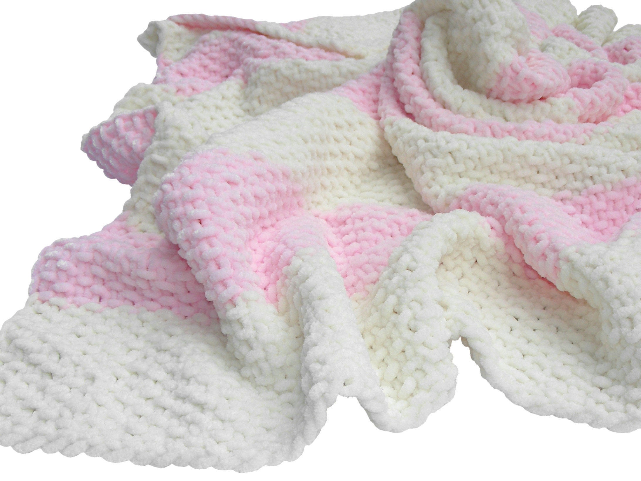 hand knit baby decke f r ein babym dchen etsy. Black Bedroom Furniture Sets. Home Design Ideas