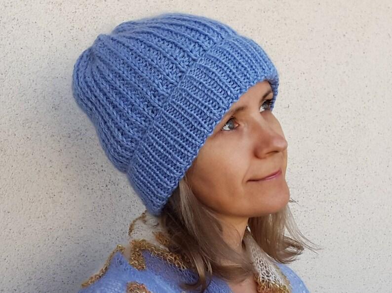 1b41e56f606 Slouchy beanie Hand knitted beanie Knit beanie Winter knit hat