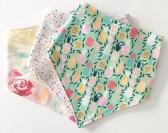Customize a Set of 3 bandana bibs