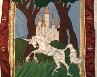 Fantasy Kingdom Wall Hanging by StitchArtByReggie