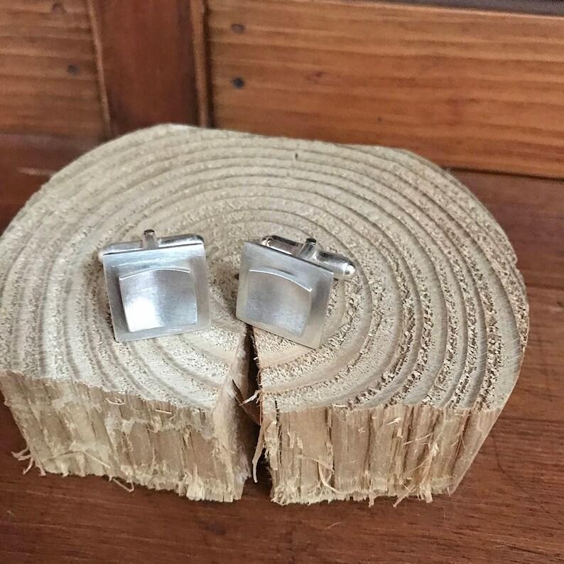Quadro Silver Cuff Links