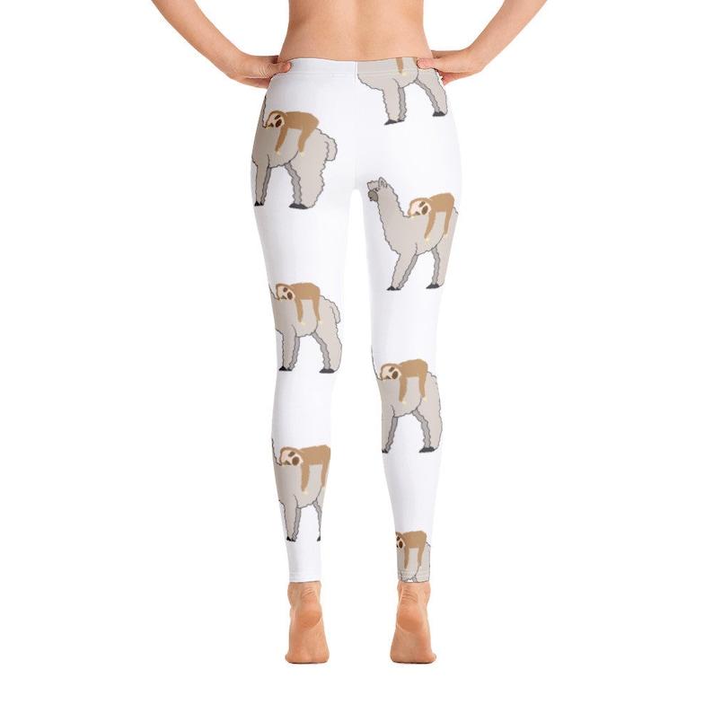 Cute Sloth Riding Llama Women/'s Leggings All-Over Print Great Gift Idea for Sloth /& Llama Lovers