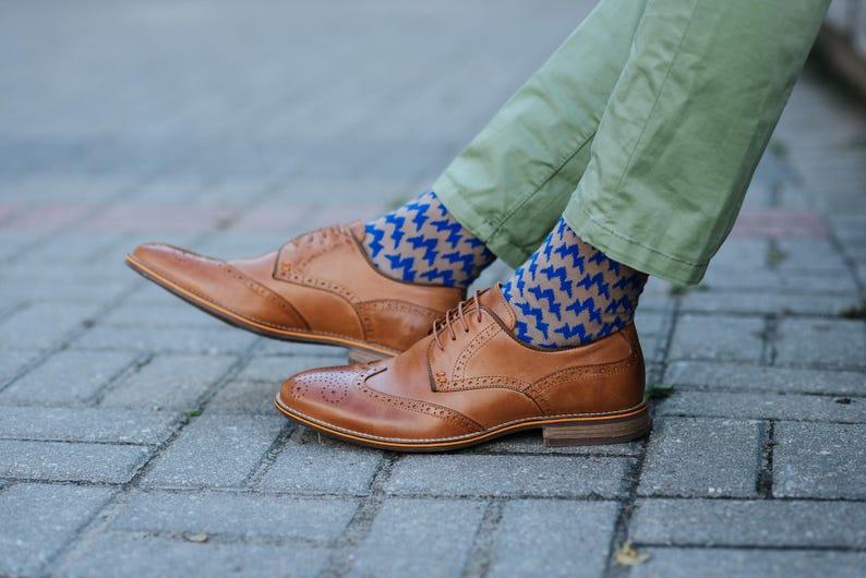 Groomsmen Socks Men Socks Vintage Socks Groom Socks Vintage Brown Socks Men Dress Socks Cotton Socks for Men Socks for Wedding