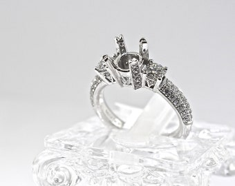 18k White Gold And Diamond Anniversary Setting