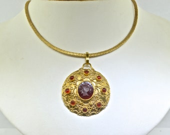 18k Yellow Gold Custom Pendant With 14k Necklace 18 Inches