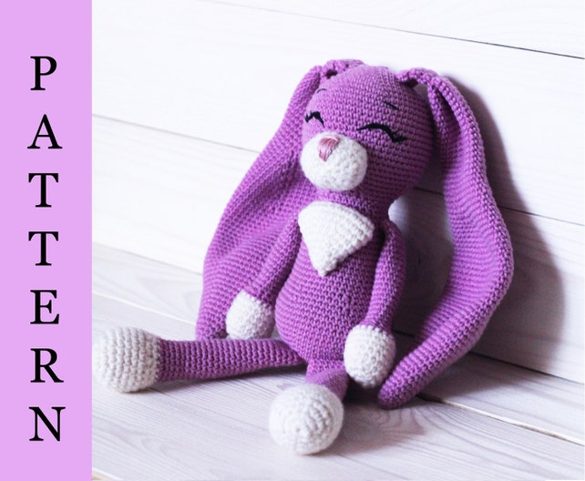 Amigurumi Rabbit Pattern Crochet Rabbit Pattern Crochet Etsy