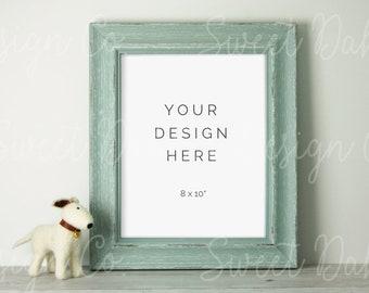 Download Free Blue Frame Mockup, Nursery, Digital Print, Stock Photo, Wall Art Mockup, Product Mockup, Styled Stock, Wood Frame, Nursery Mockup, 8x10 PSD Template