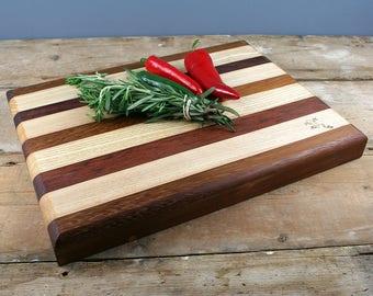 Chopping Board - English Ash with reclaimed Iroko and Jarrah
