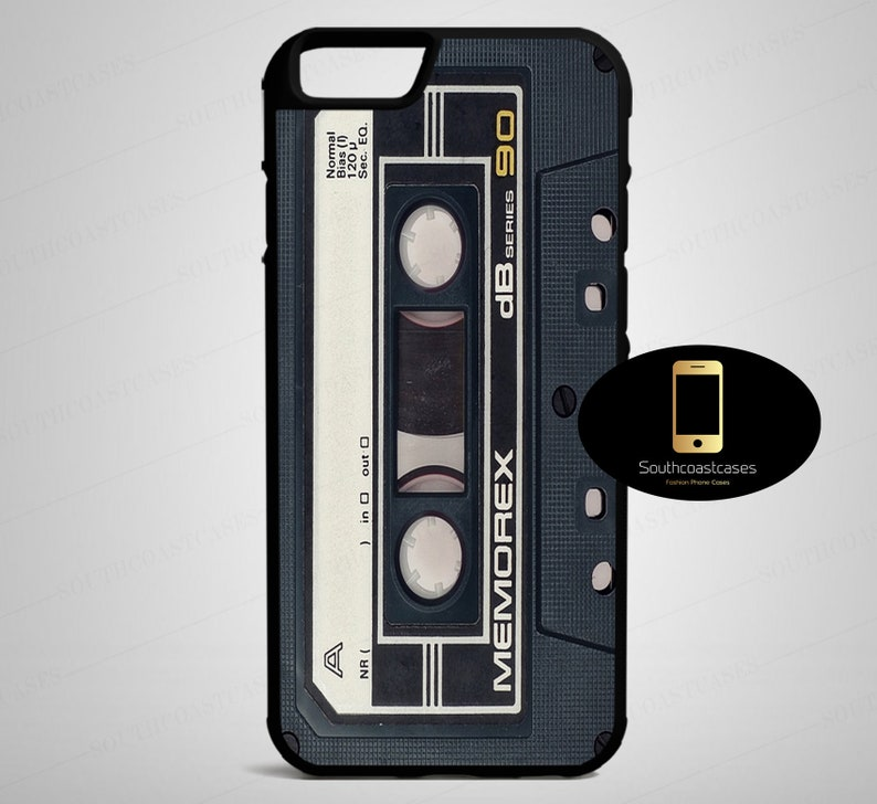 Retro Cassette Tape Mixtape Vintage Quirky Cool Blogger Tumblr Rubber Phone  Case Cover For iPhone 5/5s/Se, 5c, 6/6, 7, 8, 6+, 7+, 8+, X & XS
