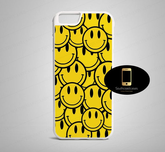 Acid Rave Smiley 90s Pattern Vibrant Pop Art Tumblr Quirky Rubber Phone  Case Cover For iPhone 5/5s/Se, 5c, 6/6, 7, 8, 6+, 7+, 8+, X, XS & XR