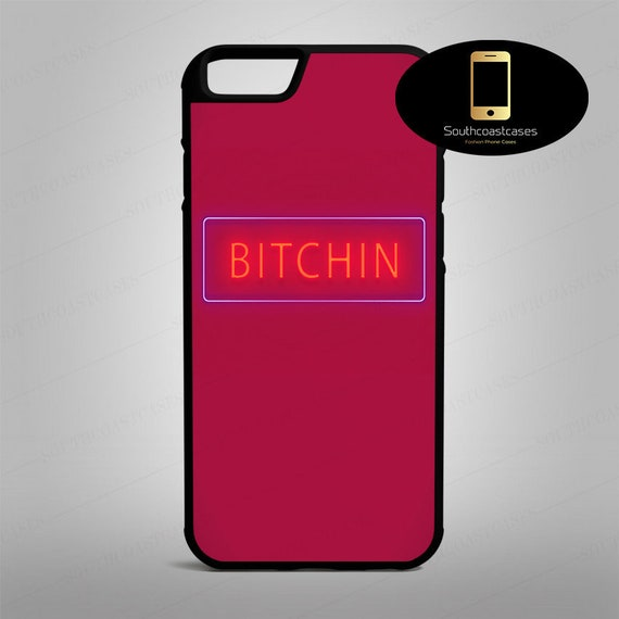 Retro Bitchin Quote 80's Neon Sign Cool Vibrant Tumblr Eighties iPhone  Rubber Phone Case Cover For iPhone 4/4s, 5c, 5/5s/Se, 6/6, 7, 8, X,8+
