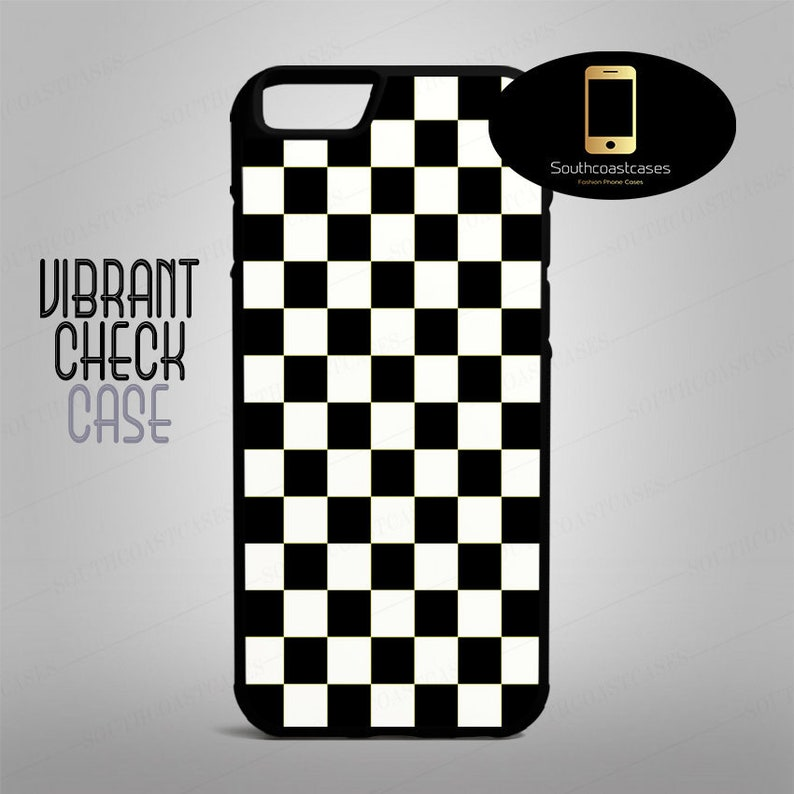 low priced e4b01 80c46 Chequered Black And White Indie Hipster Pattern iPhone Rubber Phone Case  Cover For iPhone 4/4s, 5c, 5/5s/Se, 6/6, 6+/6s+, 7, 7+, 8, 8+ And X