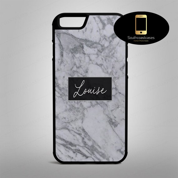 buy popular bc01c 463f1 Custom Personalised Marble n Black Print Name/Initial iPhone  Silicone/Rubber Phone Case Cover For iPhone 4/4s, 5c, 5/5s/Se, 6/6, 7, 8  and X