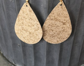 Shimmer Gold Earrings
