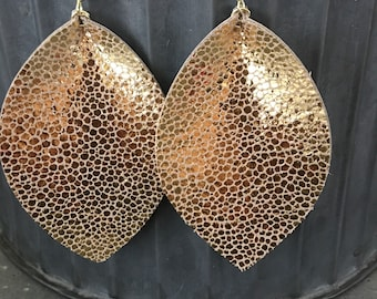 Bold Gold Petal Earrings