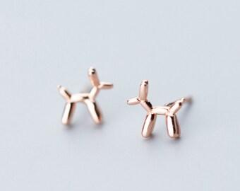 9d24e7087 silver earrings, stud earrings, dog earrings, Poodle earrings, cute animal  earrings, tiny earrings, adorable earrings,playful earrings, gift