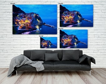 Cinque Terre Italy Large Canvas, Large Premium Gallery Wrap Canvas, Ready to Hang