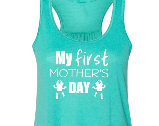 First Mother's Day Shirt for Twin Mama