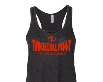 Twincredible Mommy FLOWY tank top for twin moms | Twin Mommy | Twin Mama | Super Twin Mom