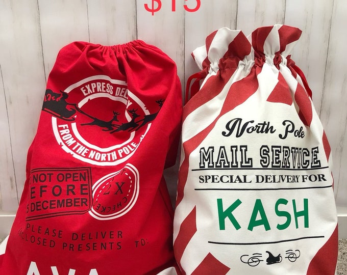 Christmas Bags Personalized | Custom X-mas Sack