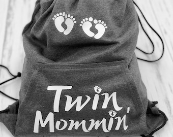 Twin Mommin cinch bag