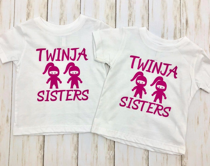 Twinja Sisters | Twins Shirt | Funny T-shirt for Girl Twins | Sister Twins