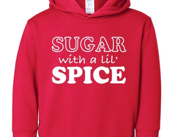 Sugar with a lil Spice | Christmas Hoodie for Toddlers | Twins