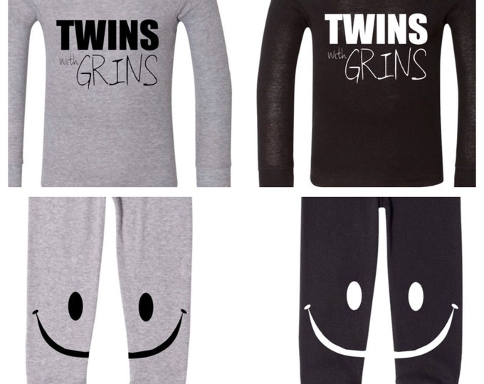 TWINS with GRINS PJ's