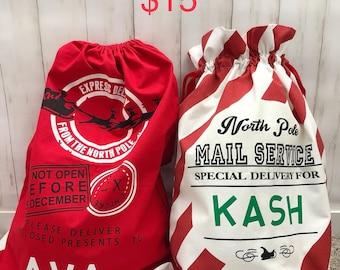 Christmas Bags Personalized | Custom X-mas Sack