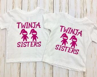 Twinja Sisters | Twins Shirt | Funny T-shirt for Girl Twins | Sister Twins