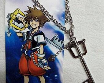 Kingdom Hearts collection Sora keyblade metal necklace