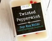 Twisted Peppermint Soy Wax Melts Tarts Scented Clamshell Holiday Mint Christmas Red White Vanilla Scentsy Home Decor