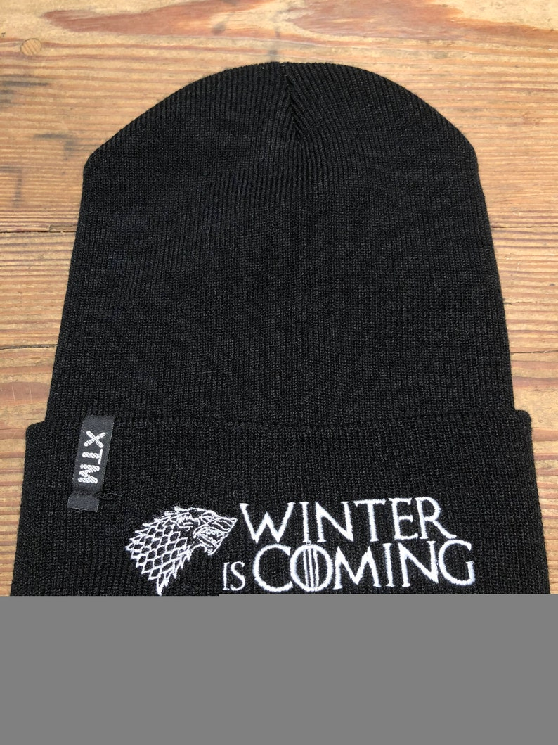 2abb4123099ac Game of Thrones Stark Winter is Coming beanie