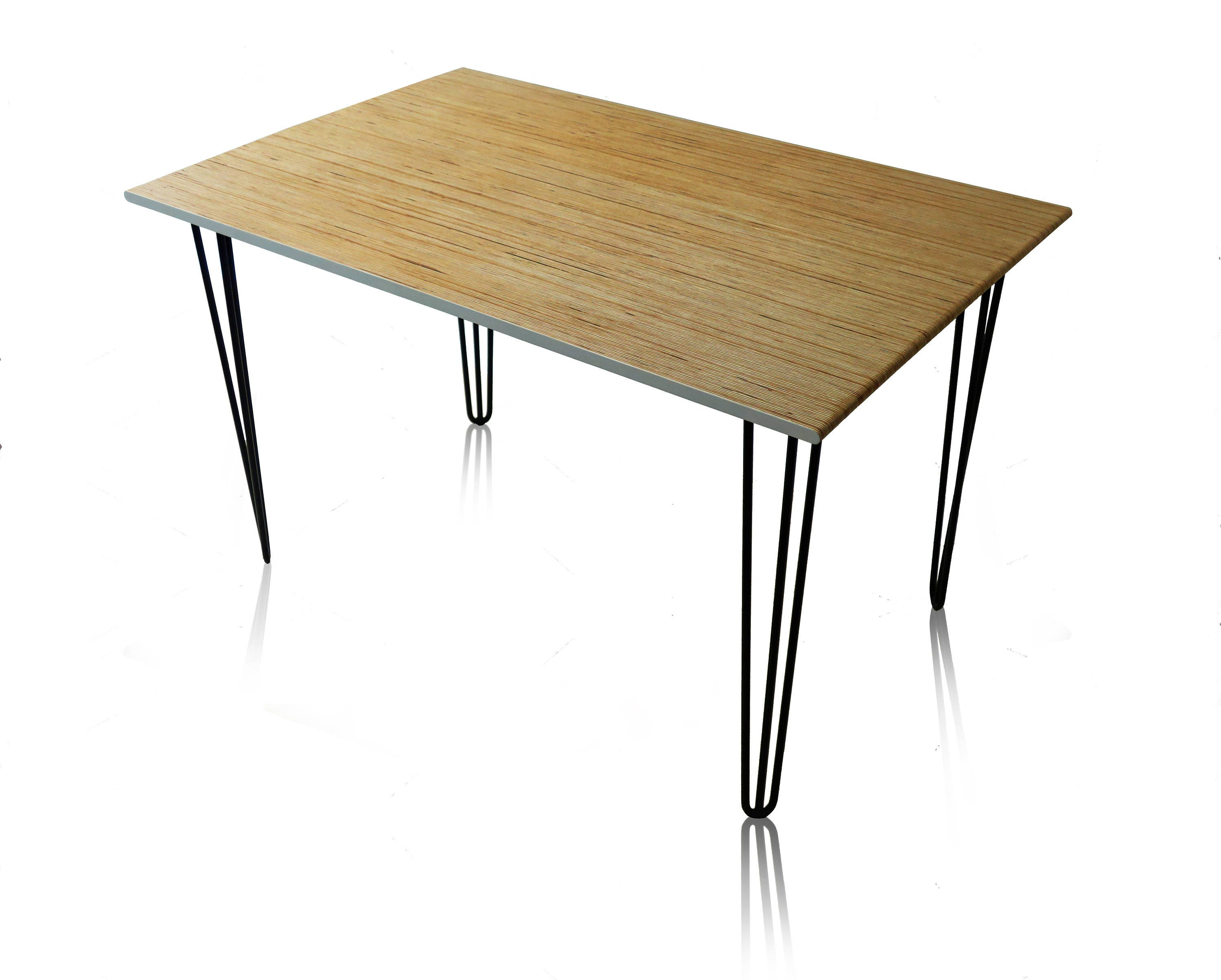 Incredible Scandinavian Mid Century Modern Desk Birch Plywood With Steel Hairpin Legs Custom Sizes Available Download Free Architecture Designs Scobabritishbridgeorg