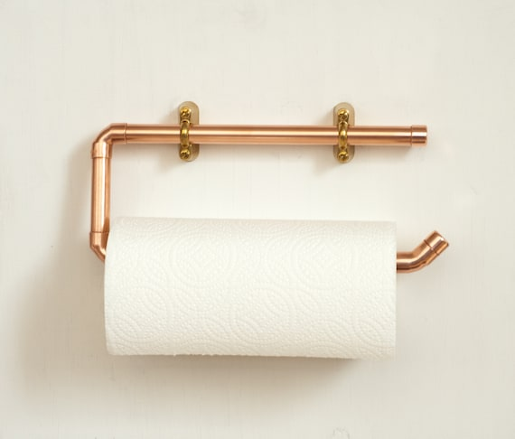 Copper Wall Mounted Kitchen Roll Holder Free Uk Shipping Etsy